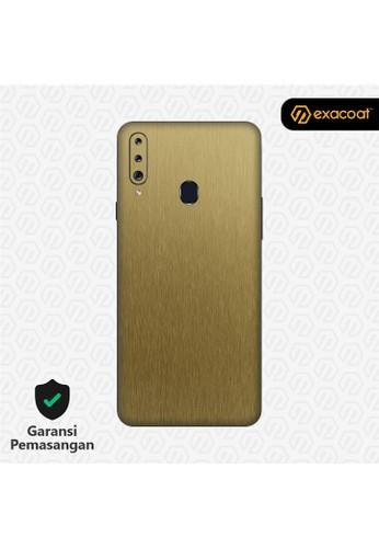 Exacoat Galaxy A20s 3M Skins Titanium Series - Titanium Gold CC7D3ES3AFD3A0GS_1