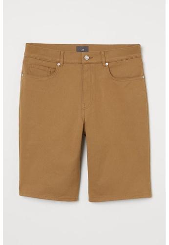 H&M beige Woven Shorts 514A1AAF1FD929GS_1