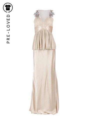 Dorian Ho gold Pre-Loved dorian ho Gold Long Dress With Embellishment On Shoulders 5B7C1AA969FE27GS_1