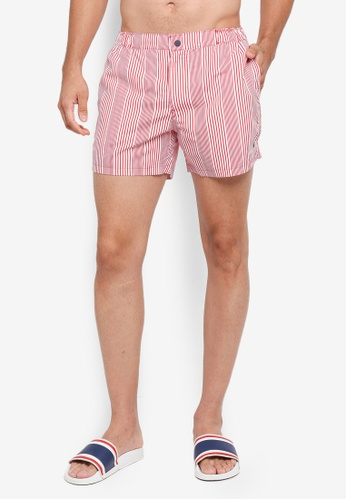 Jack Wills red Wittering Stripe Swim Shorts CFD20USCF6F4EBGS_1