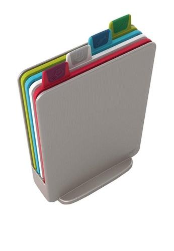 Joseph-Joseph silver Index Cutting Boards with Storage Case - Mini, Silver 9CED5HLAFD444DGS_1