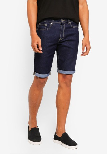 threads by the produce blue Denim Stretch Shorts F4417AAC904A69GS_1
