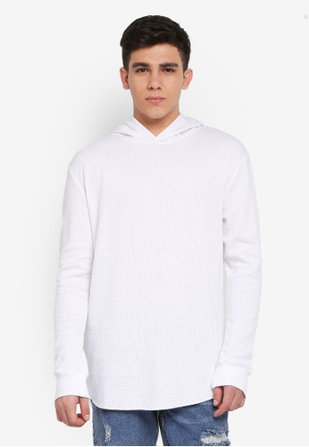 Cotton On white Hooded Waffle Long Sleeve T-Shirt 28A7FAA43193B8GS_1
