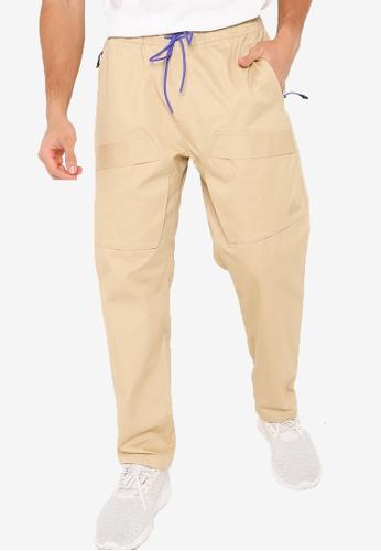 ADIDAS beige sportswear street woven cargo pants 40397AA7BA41F5GS_1