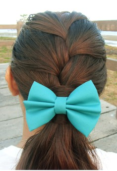 Blue Green Bow (Small)