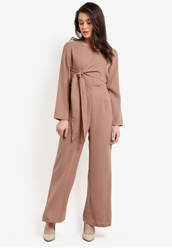 BYN brown Jumpsuit BY059AA0RRRGMY_1