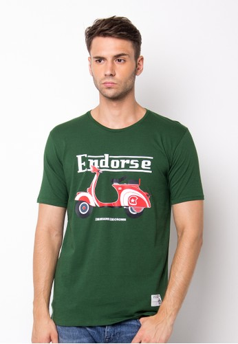Endorse Tshirt Wl Lambretta Green END-PF045