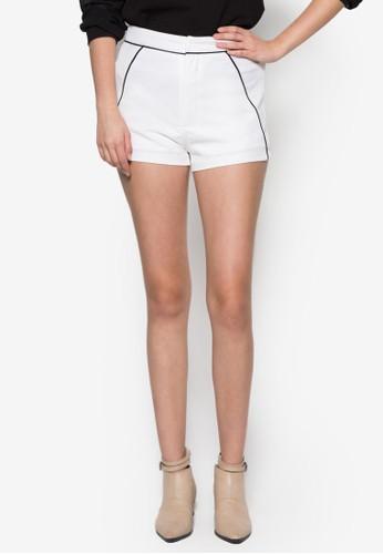 撞色滾邊短褲,zalora taiwan 時尚購物網 服飾, 短褲