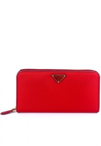 PRADA red Prada 1ML506 Portafoglio Lampo Tessuto Zip Rosso CC938AC26775B6GS_1