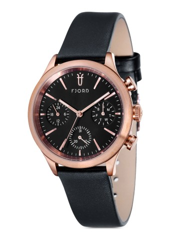 AGNA esprit門市多功能皮革圓錶, 錶類, 皮革錶帶