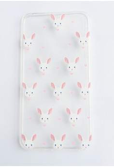 Bunnies Soft Transparent Case for iPhone 6plus, 6splus