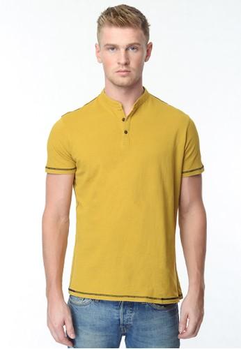 CVNL Basic Mandarin Kaos Polo Shirt Pria Slimfit