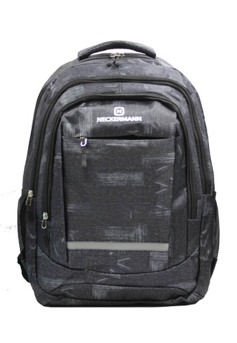 Neckermann black and silver Neckermann Backpack Series 0128 20DB9ACA959371GS_1