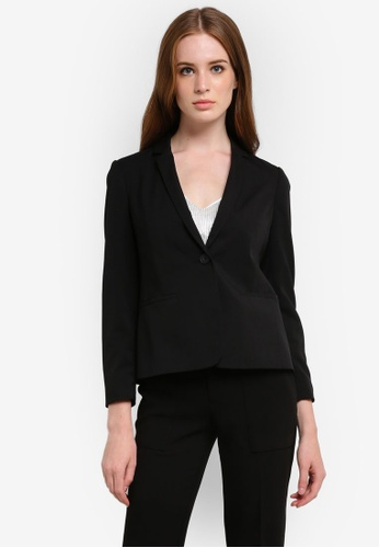 Dorothy Perkins black Petite Black Suit Jacket DO816AA0REX2MY_1