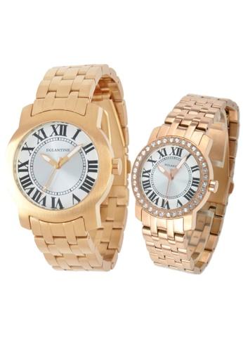 EGLANTINE gold EGLANTINE® - Emile & Emily - 2 Quartz Watches  Rose Gold Plated Steel - Lady's with Crystals 570C0AC28B238FGS_1