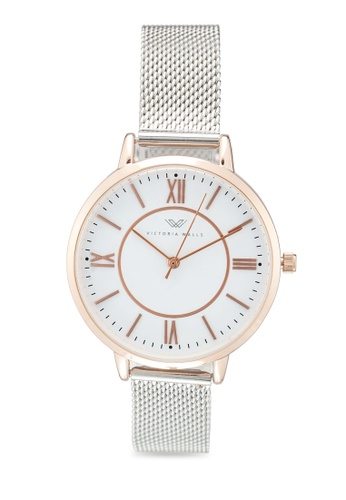 Victoria Walls Watches silver Designer Watch-Elegant Milanese Mesh Strap ADE1EACB840FC0GS_1