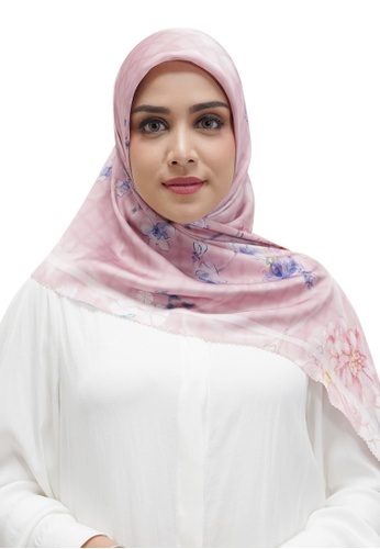 Buttonscarves pink Buttonscarves Sofya Satin Square Pinksalt 65AE3AA19B3335GS_1