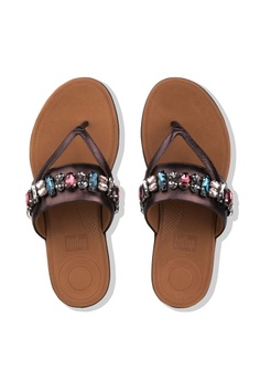 buy cheap 7157e 75817 19% OFF Fitflop Fitflop Delta Bejewelled Toe Post (Berry) RM 539.00 NOW RM  439.00 Sizes 5 6 7 8