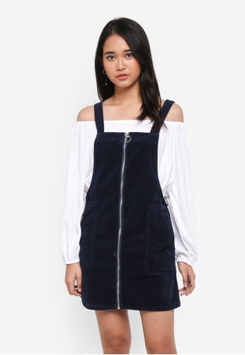 Cotton On navy Cord Pinafore Dress BF34BAAAD0F9A0GS_1