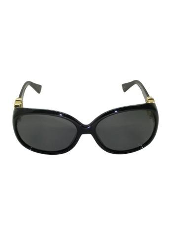 Buy Glam-it! Lady Sunglasses (Black Frames, Gold Logo, Smoke ...