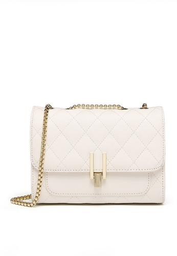 Twenty Eight Shoes white VANSA Fashion Lingge Chain Crossbody Bag VBW-Cb1867 1D068AC18FDF7FGS_1