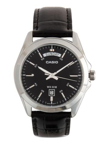 Casio multi Casio Men's Black Dial Leather Band Watch CA843AC70JQNMY_1