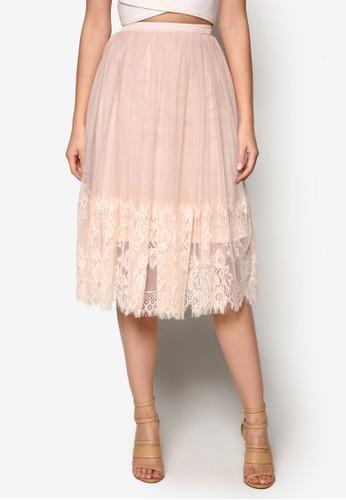 網紗蕾絲及esprit hk膝短裙, 服飾, 裙子