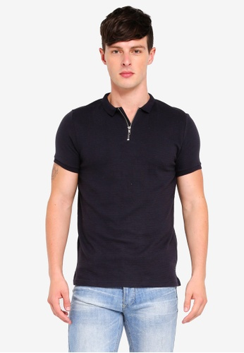 Brave Soul navy Short Sleeve Polo Shirt E319BAA289C814GS_1