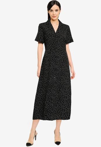 MISSGUIDED black Button Through Midi Shirt Dress 45B96AA57FDFD9GS_1