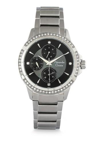 Alexandre Christie silver Alexandre Christie Jam Tangan Wanita - Silver Black - Stainless Steel - 2726 BFBSSBA B21A7AC24A674CGS_1