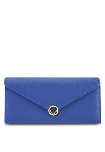 Perllini&Mel blue Faux Leather Long Wallet 09A4DAC6F9DF79GS_1