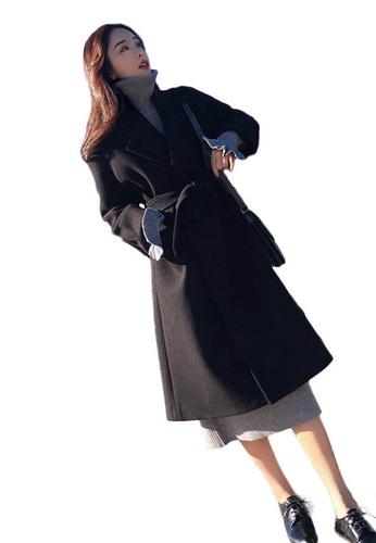 Sunnydaysweety black Woolen Over The Knee Double-Sided Coat A102206BK 8B9C7AA1C9485DGS_1