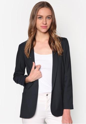 條紋西裝外套,zalora 台灣門市 服飾, 西裝外套