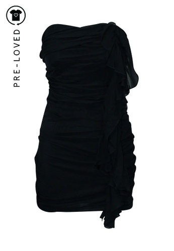 Elizabeth And James black Pre-Loved elizabeth and james Silk Tube Dress with Ruffles E4899AA1CD313EGS_1