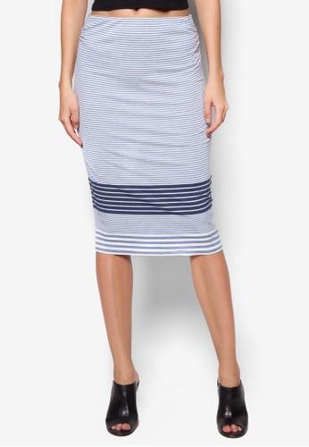 條紋鉛筆裙, 服飾, 服zalora 台灣飾