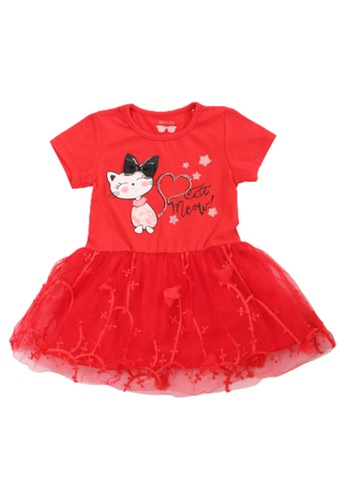 Mini Zo red Faria Baby Girl Casual Dress Red ED66FKA354D6DDGS_1