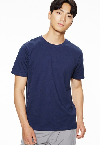 Life8 blue Casual Short-Sleeved Tee-10117-Navy AB1EDAAA534480GS_1