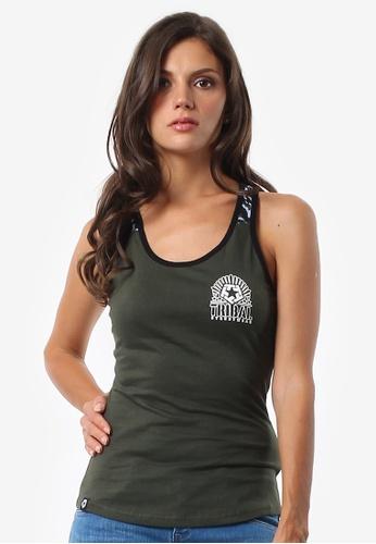 Tribal green Women's Camo Tank Extend Tshirt F86FDAAA3BE1D1GS_1