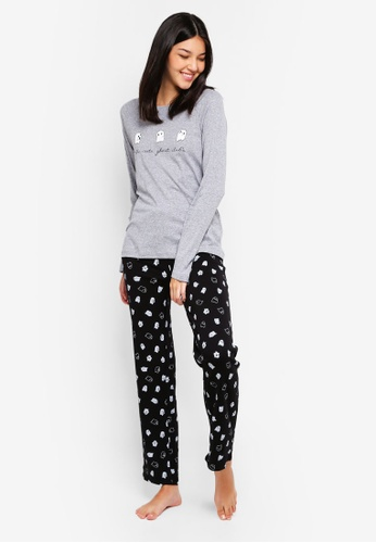 OVS grey Cotton Ghost Pyjamas Set 9C57CAA5F86FD6GS_1