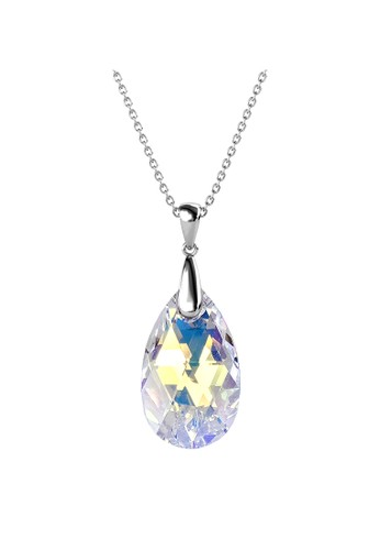 Her Jewellery multi and silver Raindrop Pendant AB Rainbow WG - Kalung Crystal Swarovski by Her Jewellery 385D0ACB38E2B8GS_1