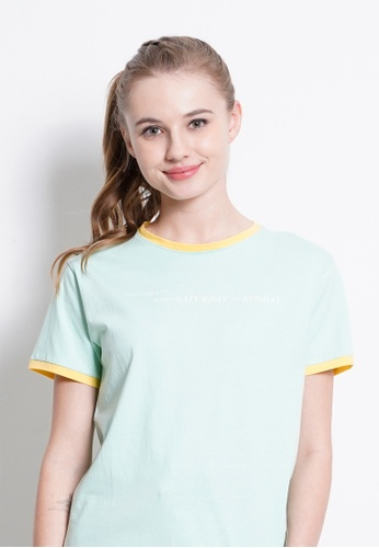 Fave green Short Sleeve Graphic Tee B98C5AAA1523FDGS_1