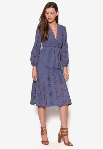 Alex尖沙咀 esprit outleta 背面繫帶鉤針長袖洋裝, 服飾, 洋裝