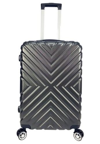 Poly-Club grey Poly-Club BA9918 24inch ABS Hard Case Luggage-Dark Grey D0CD8AC69251CAGS_1