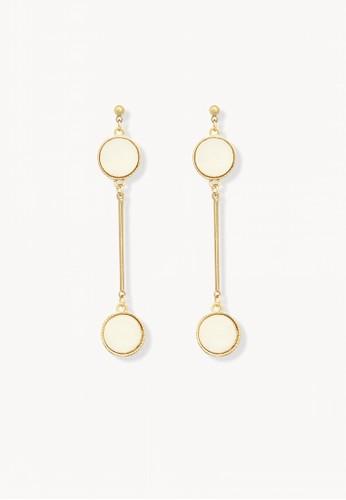 Pomelo gold Bar Link Dangle Earrings - Gold 0CC6CAC3026FA2GS_1