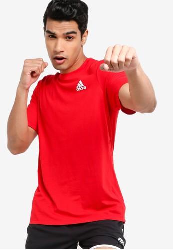 ADIDAS red aeroready designed 2 move sport tee 54D04AA9F60CCFGS_1