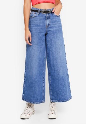 f79ac0f31456 TOPSHOP blue Moto Light Blue Wide Leg Jeans 2CBAFAAFA373CBGS 1