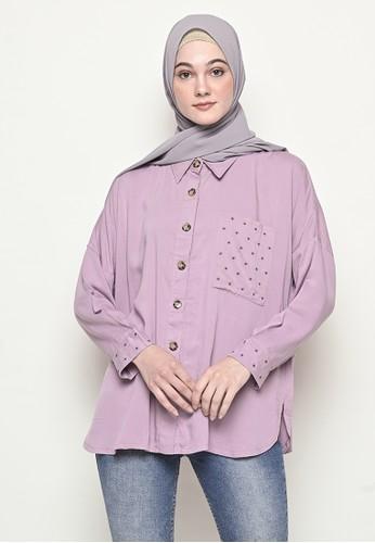 My Daily Hijab purple Anya Byeol Blouse Lilac 9A7DBAAC07D325GS_1
