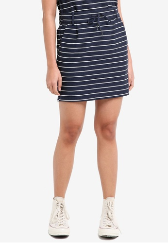 ONLY navy Poptrash Easy Striped Skirt 39413AAD78EF91GS_1