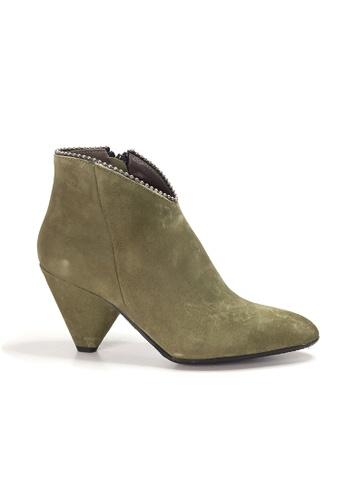 Shu Talk 綠色 XSA 意大利真皮高雅尖頭短靴 236DFSH71BD660GS_1