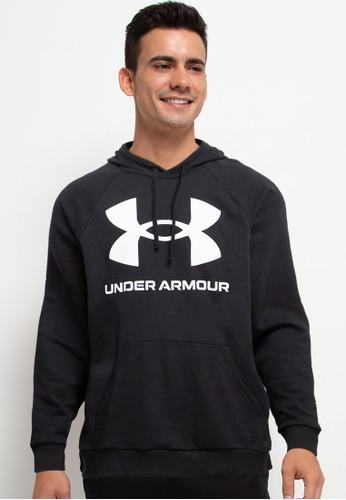 Under Armour black UA Rival Fleece Big Logo Hoodie 9A43DAAA380653GS_1